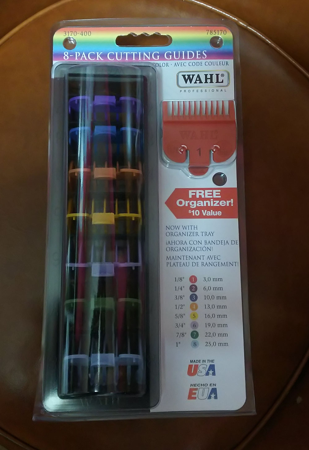 Wahl 8Pack Colored Cutting Attachment Guides