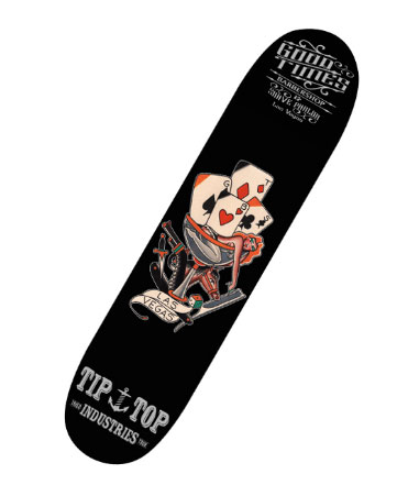 TIPTOP Sketeboard GOOD TIMES SKATE DECK
