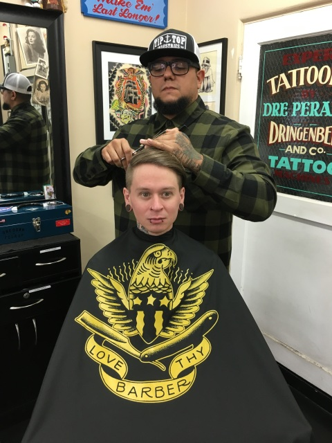 TIPTOP Stay Gold Series LOVE THY Barber Cape