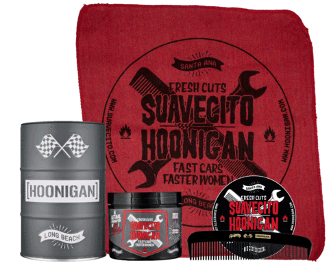 suavecito x HOONIGAN  pomade ORIGINAL HOLD OIL BARREL SET