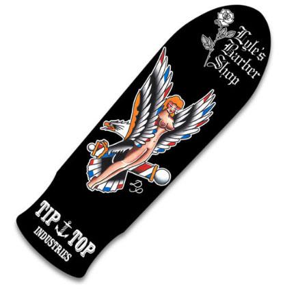 TIPTOP Sketeboard  Lyle's Barbershop Old School Pool Skate Deck