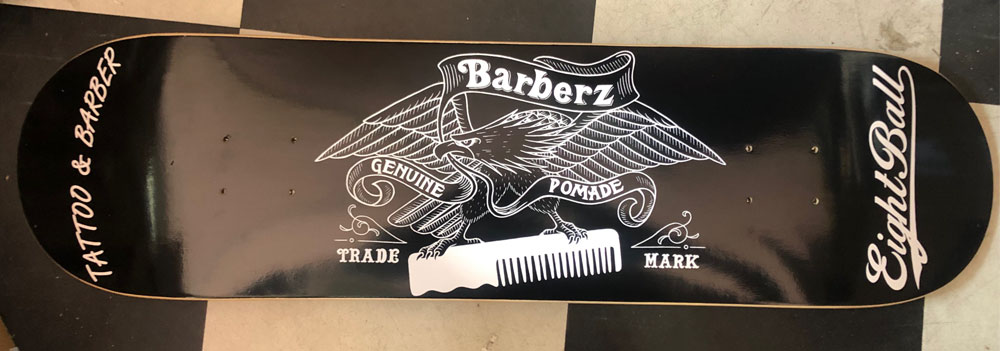 BARBERZ Skateboard Deck