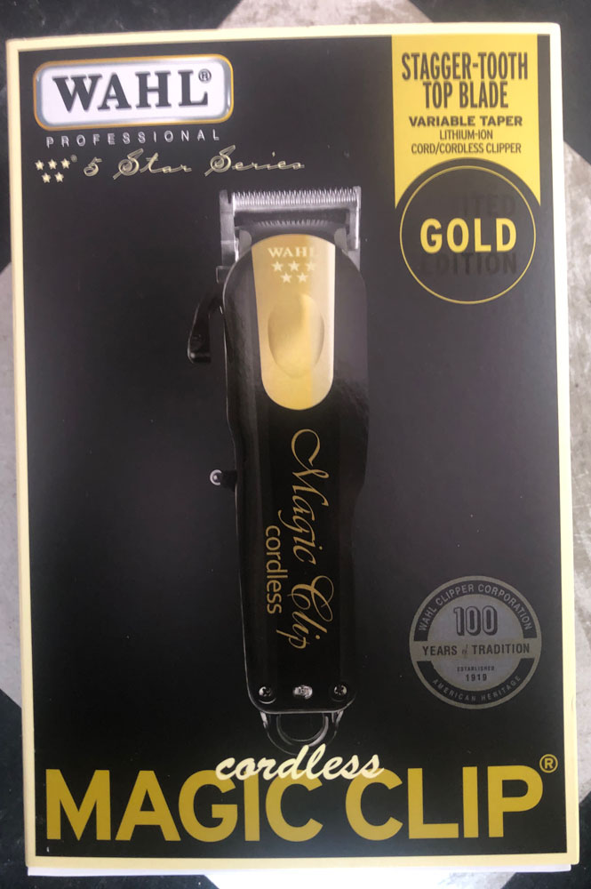 Wahl 5Star Limited Edition BLACK&Gold Cordless Magic Clip Clipper