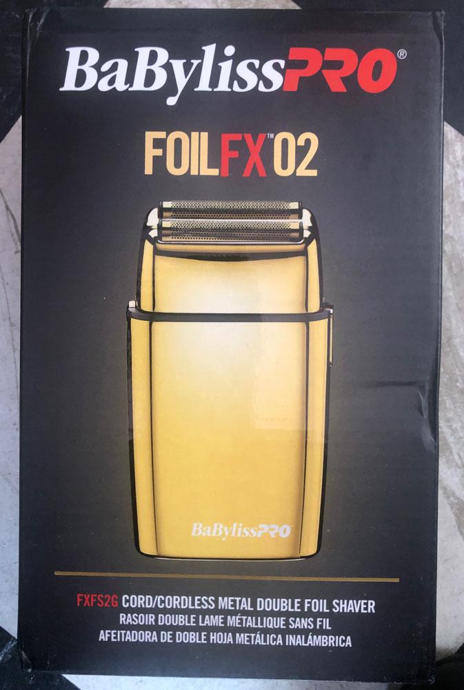 BabylissPro FoilFX02 Cordless GOLD Metal Double Foil Shaver