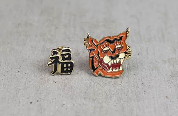 """ROARING TIGER"" Pin Set METALIZE CO."