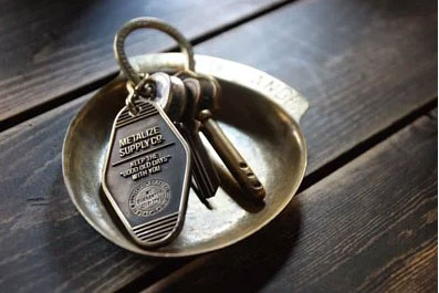 Vintage Style Brass Motel Key Tag METALIZE CO.