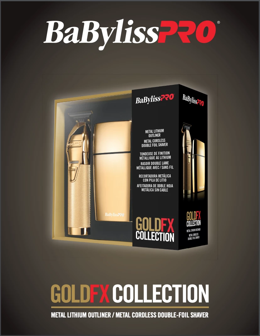 BaBylissPRO Gold FX Collection Trimmer and Shaver Combo