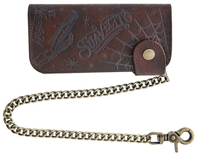 Suavecito Patterned Chain Wallet