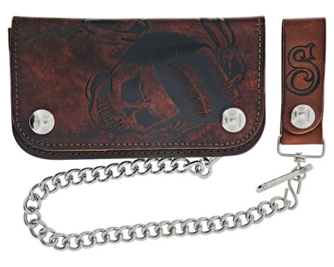 Suavecito Skeleton Chained Biker Wallet
