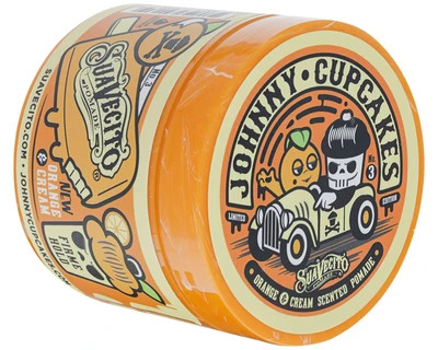 Suavecito X Johnny Cupcakes Firme (Strong) Hold Orange & Cream Pomade