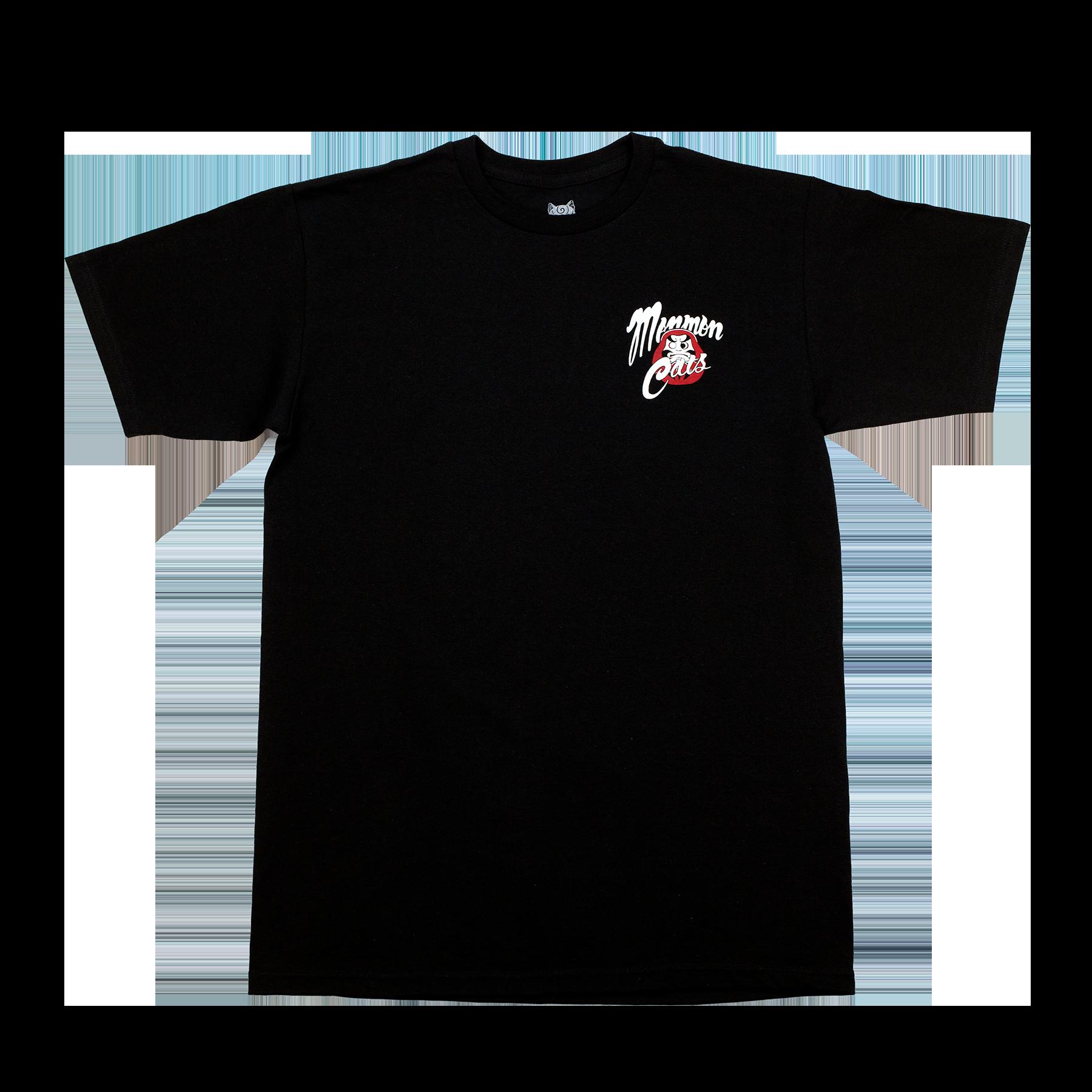 MonmonCats  Black Daruma CatsT-Shirt