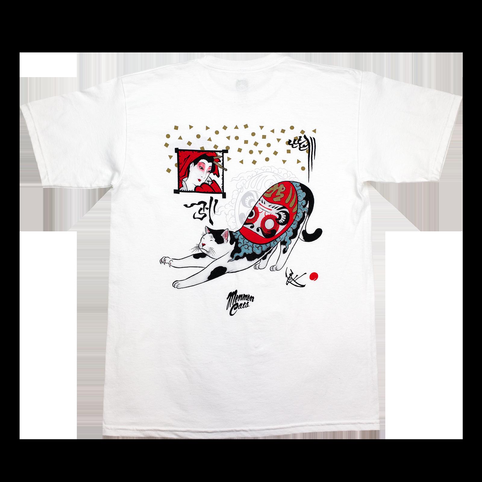 MonmonCats  White Daruma CatsT-Shirt