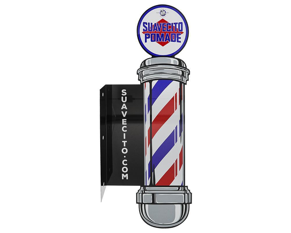 Suavecito Barber Pole Metal Sign