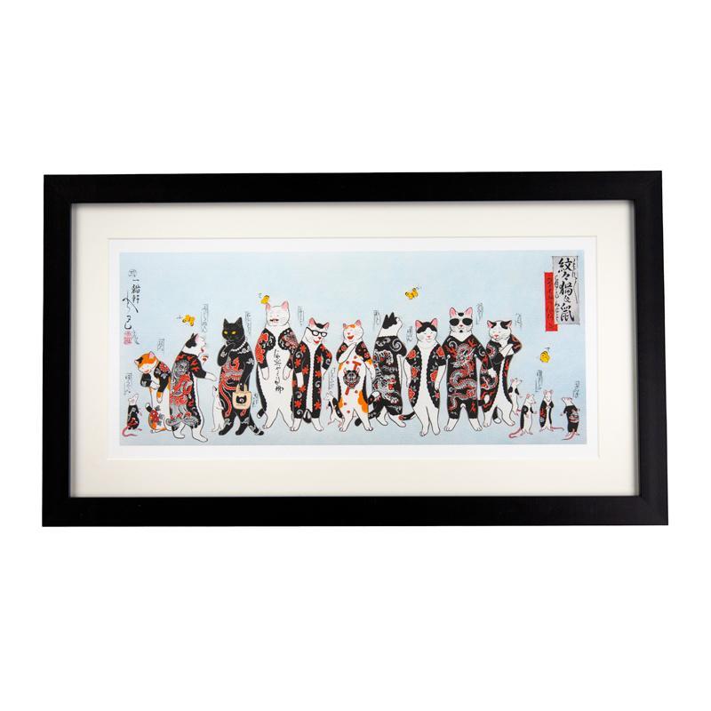 MonmonCats Framed Gang Cat Print