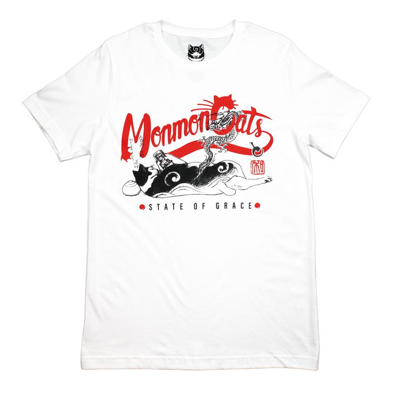MonmonCats Keitai Cat Tee - WHITE
